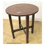 "ANTIQUE ""Stickley Furniture"" Mission Oak Round Lamp Table  Auction Estimate $200-$400 – Located Ins"