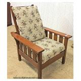 "Mission Oak ""Stickley Furniture"" Morris Chair  Auction Estimate $300-$600 – Located Inside"