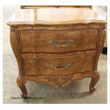 """PAIR of """"White Furniture"""" SOLID Cherry Country French Style 2 Drawer Night Stands  Auction Estimate"""