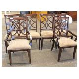 7 Piece NICE Contemporary Banded and Inlaid Dining Room Table with 6 Chairs  Auction Estimate $200-