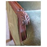 ANTIQUE Mahogany Frame Carved Sofa  Auction Estimate $100-$400 – Located Dock