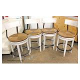 NICE Set of 4 NEW Rotating Country Style Bar Stools  Auction Estimate $200-$400 – Located Inside