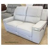 NEW Soft Grey Double Power Recliner Loveseat  Auction Estimate $300-$600 – Located Inside