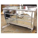 NEW All Mirrored Hollywood 4 Drawer Decorator Chest  Auction Estimate $200-$400 – Located Inside