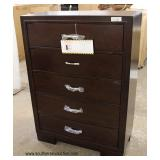 4 Pieces of NEW Matching Bedroom High Chest, Low Chest and 2 Night Stands in the Mahogany Finish  M
