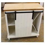NEW Barn Door Sliding Island Bar Cabinet  Auction Estimate $100-$200 – Located Inside
