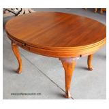 ANTIQUE Oval SOLID Mahogany Dining Room Table with Retractable Leaves  Auction Estimate $100-$300 –