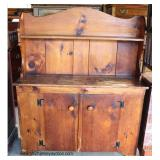 ANTIQUE Knotty Pine Step Back Country Hutch  Auction Estimate $200-$400 – Located Dock