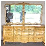 One of Several French Provincial Dresser with Mirror  Auction Estimate $100-$300 – Located Dock