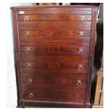 ANTIQUE Mahogany Victorian Lock Side High Chest  Auction Estimate $100-$300 – Located Dock