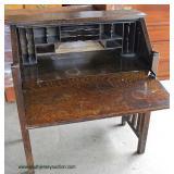 ANTIQUE Quartersawn Oak Mission Style Slant Front Ladies Desk  Auction Estimate $100-$300 – Located