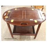 SOLID Mahogany Butterfly Butler Serving Table on Stand  Auction Estimate $100-$200 – Located Inside
