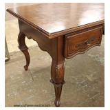 SOLID Mahogany William and Mary Style 3 Drawer Desk  Auction Estimate $200-$400 – Located Inside