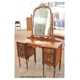 Depression 2 Tone Walnut Vanity  Auction Estimate $100-$200 – Located Inside