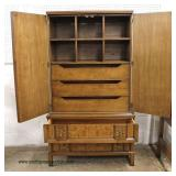"""5 Piece """"Rom Weber"""" Mid Century Walnut Burled Bedroom Set with King Size Headboard Only  Auction Es"""