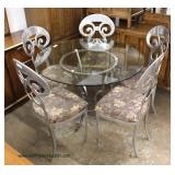 Modern Design 5 Piece Kitchen Set with Aircraft Aluminum Style Chairs – Very Cool  Auction Estimate
