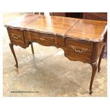 "VINTAGE ""Thomasville Furniture"" Walnut Flip Top French Style Vanity  Auction Estimate $100-$300 – L"