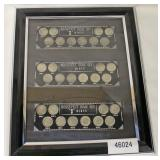 """Framed Silver Roosevelt Dime Sets – """"D"""" Mint and """"S"""" Mints  Auction Estimate $20-$50 – Located Insi"""