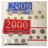 U.S. 2000 (1) United States Philadelphia Mint and (1) Denver Mint Uncirculated Coin Sets  Auction E