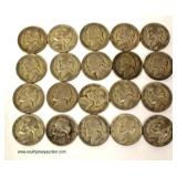 20 Silver War Nickels  Auction Estimate $10-$20 – Located Inside