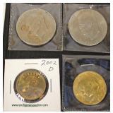 Sheet of 2 Dollars, Kennedy Half Dollar and Susan B. Anthony Dollar  Auction Estimate $5-$10 – Loca