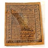 Five Shillings  Auction Estimate $5-$10 – Located Inside