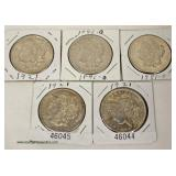Selection of U.S. Silver Morgan Dollars  Auction Estimate $20-$50 each – Located Inside