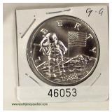 1988 Silver Astronauts Commemorative Coin  Auction Estimate $20-$50 – Located Inside
