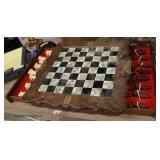 Chess Board with Game Pieces  Auction Estimate $25-$100 – Located Inside
