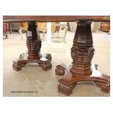 Contemporary 10 Piece Burl Mahogany Dining Room Set with 2 Leaves  Auction Estimate $300-$600 – Loc