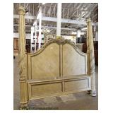 Monumental King Size 4 Poster Decorator Bed with Rails  Auction Estimate $200-$400 – Located Inside