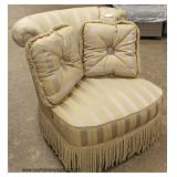 Overstuffed Swivel Decorator Chair with Pillows  Auction Estimate $100-$300 – Located Inside