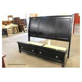 LIKE NEW CLEAN 5 Piece Contemporary King Bedroom Set with Under Bed Drawers  Auction Estimate $300-