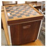 Mid Century Modern Danish Walnut Game Table Foot Stool  Auction Estimate $50-$100 – Located Inside
