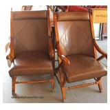PAIR of VINTAGE Leather Like Arm Chairs  Auction Estimate $100-$200 – Located Dock