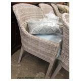 Set of 6 All Wicker Barrel Back Chairs  Auction Estimate $200-$400 – Located Inside