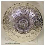 """Made in Turkey """"Azzurra"""" Tagged %100 Genuine Silver 8 ½"""" Decorator Teal and Brown Decorated Glass B"""