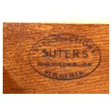 """SOLID Cherry """"Suters Furniture"""" Bachelor Chest with Pull Out Tray  Auction Estimate $200-$400 – Loc"""