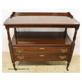 """SOLID Cherry """"Ethan Allen Furniture"""" Tea Cart with Pull Out Trays  Auction Estimate $200-$400 – Loc"""