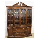 "SOLID Cherry ""Ethan Allen Furniture"" 2 Piece 4 Door China Cabinet  Auction Estimate $300-$600 – Loc"