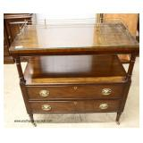 """SOLID Mahogany """"C.W. Kittinger Furniture"""" Tea Cart with Brass Gallery  Auction Estimate $300-$600 –"""
