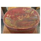 Asian Decorated Wooden Box  Auction Estimate $100-$200 – Located Inside