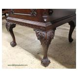 """BEAUTIFUL SOLID Burl Mahogany Ball and Claw Chippendale Style  with Back Splash Sideboard sold by """""""