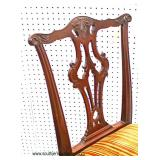 7 Piece SOLID Mahogany Ball and Claw Dining Room Table with 4 Leaves and 6 SOLID Mahogany Chippenda