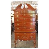 "Cherry 2 Piece ""Bassett Furniture"" Queen Anne Shell Carved High Boy  Auction Estimate $100-$300 – L"