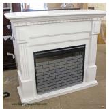 NEW White Washed Fireplace Mantle  Auction Estimate $200-$400 – Located Inside