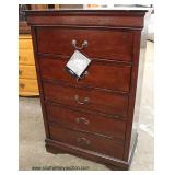 """Selection of NEW Mahogany Finish """"Signature Design by Ashely Furniture"""" 5 Drawer Contemporary High"""