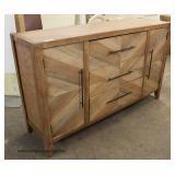 "NEW ""Scott Living Furniture"" Modern Design 2 Door 3 Drawer Credenza  Auction Estimate $200-$400 – L"