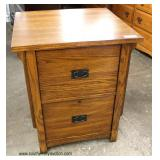 NEW Mission Oak Style 2 Drawer File Cabinet  Auction Estimate $50-$100 – Located Inside
