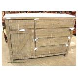 NEW Rustic Style 5 Drawer 1 Door Chest  Auction Estimate $300-$600 – Located Inside